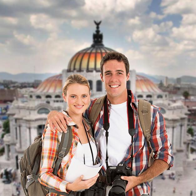 Tourists Smile
